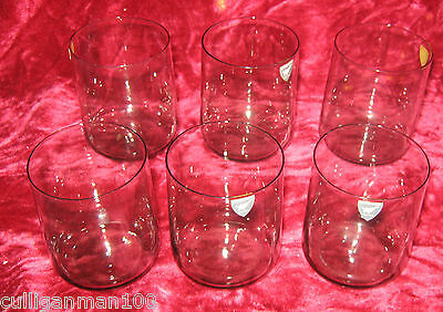 1 - Lot of 6 - Orrefors Rhapsody Smoke Old Fashion Glasses  (2017-070)