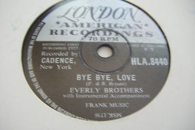 Everly Brothers*bye Bye Love / I Wonder If I Care As Much*vg