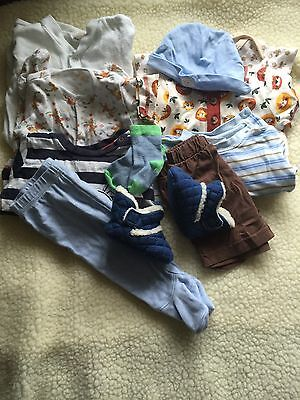 Pre-loved/0-3 Month/boys Clothes Bundle/ Baby grows/tops B4