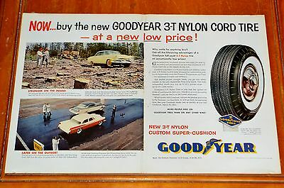 1956 Dodge & Chrysler For Goodyear Tires Large Ad - Vintage American 50S