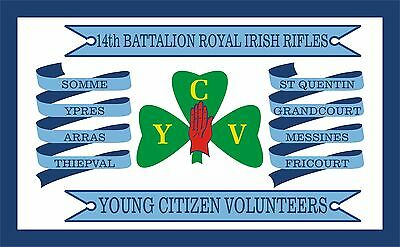 YCV Ulster Flag - 1916 WW1 Commemoration flag. 5x3 Top Quality