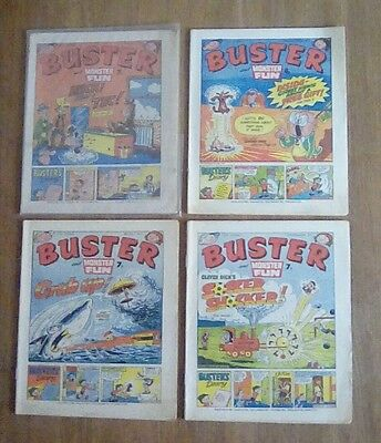 8 Buster comics plus Buster and Monster Fun summer special 1977