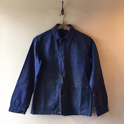 True Vintage French Le Mont Carmel Navy Blue Chore Workwear Jacket M