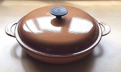 LE CREUSET Begie/Brown Cast Iron Shallow Casserole dish no 26 - 26cm diameter