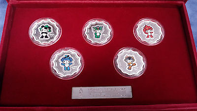 2008 OFFICIAL Beijing Olympic Games Mascots Collection Silver Proof Coin Set