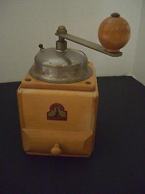 Antique Wooden Coffee Grinder Armin Trosser  West Germany British Zone