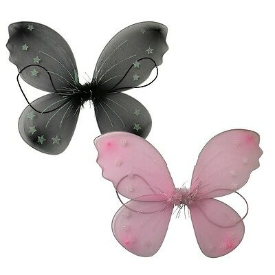 Childrens Wearable Angel Wings with Elastic Straps Assorted Colours 40cm