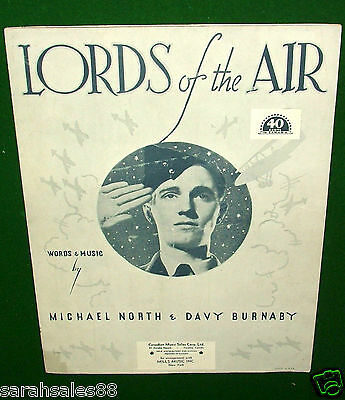LORDS of the AIR, Vintage War Sheet Music, Michael North & Davy Burnaby, © 1939