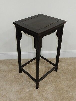 Gorgeous Antique Chinese Zitan   Wood Side Table RARE!!  27.5  inches