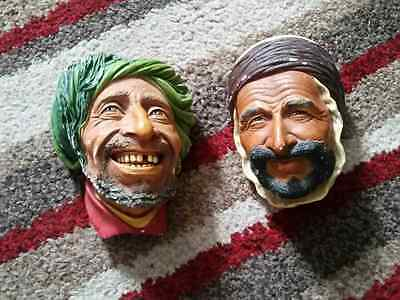 2 Vintage Bossons Chalk Heads All 2 Have Full Bossons Congleton Backstamp
