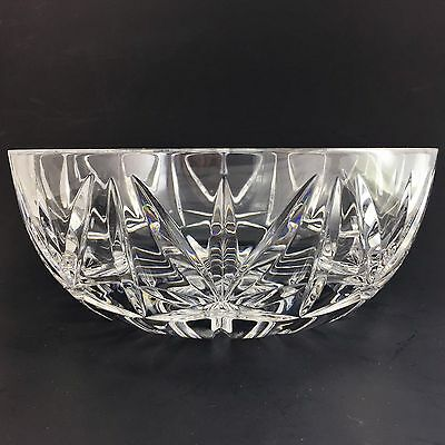 Large Waterford Crystal Bowl Centerpiece Cut Serving 10 Salad Glass Signed