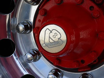 Scania R Series V8 Stainless wheel centres Etched Inc Fixings scania 4 series