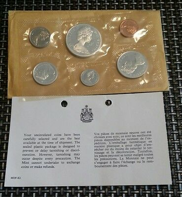 1965 canadian proof like set in original envelope and info leaflet
