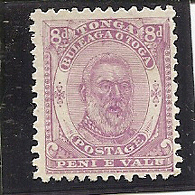 TONGA 1892 8d  SG13 unused without gum