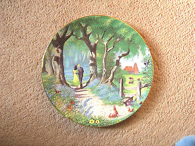 "Royal Worcester Darling Buds Of May ""the Bluebell Woods""  Plate"