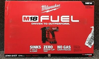 Milwaukee 2740-21CT M18 FUEL 18-Gauge Brad Nailer Kit W/Battery Pack & Charger