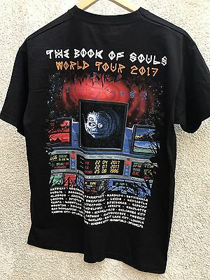 Iron Maiden XL Rare Event T Shirt The Book Of Souls World Tour 2017 O2