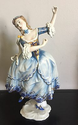 ROSENTHAL FIGURE, DANCING LADY, BluE, GERMANY US Zone, HAND PAINTED, SELB