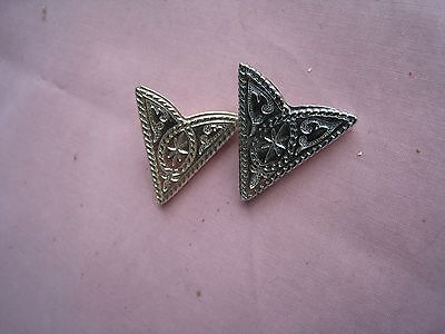 "Western Collar Points/Tips.....Nice Fine Engraving..... 1 3/8"" long.....Nice"
