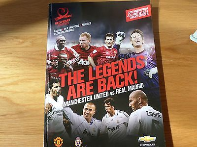 Manchester United v Real Madrid Fundraising Match Programme 2013