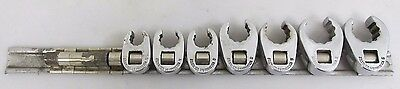 """Snap-on Tools  3/8"""" Dr 7Pc SAE Flare Nut Crowfoot Wrench Set 207SFRH"""
