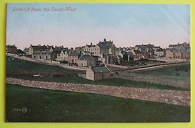 VALENTINES SERIES Postcard c.1910 VIEW FROM SOUTH-WEST LERWICK SHETLAND ISLANDS