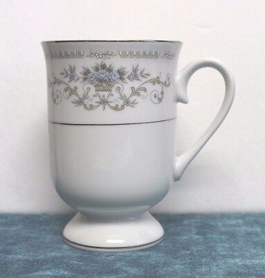 "Sone/Wade Fine Porcelain China Japan ""DIANE"" Coffee Mug/Cup Footed 4.5"" EUC"