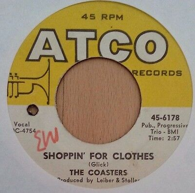 """The Coasters - Shopping for clothes U.S  7"""" single Atco 45-6178,1960"""