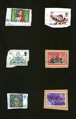 POSTAGE STAMPS ; GREAT BRITAIN x6 :  CHRISTMAS -  MIXED LOT