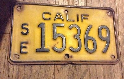 Se California Motorcycle License Plate