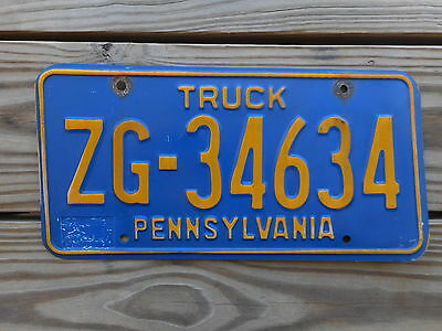YOM 1980 s PENNSYLVANIA  LICENSE PLATE TAG NUMBER ZG 34634 CLASSIC TRUCK PA