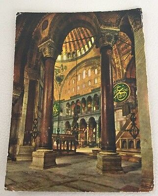 Vintage TurkeyPostcard. Saint Sophia Museum Istanbul Sent To Northern Ireland