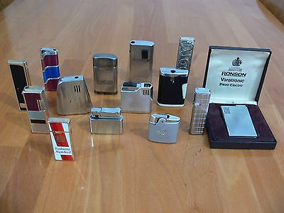Job Lot Vintage Cigarette Lighters X 14 - Spares Or Repair.