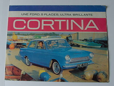 BROCHURE PUBLICITAIRE FORD CORTINA  Vers 1963
