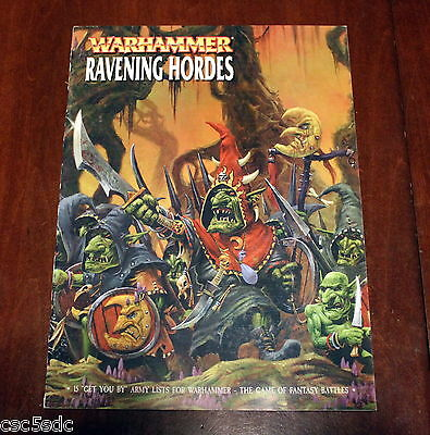 Warhammer Fantasy Battles 6th edition Ravening Hordes 2000 Games Workshop rare