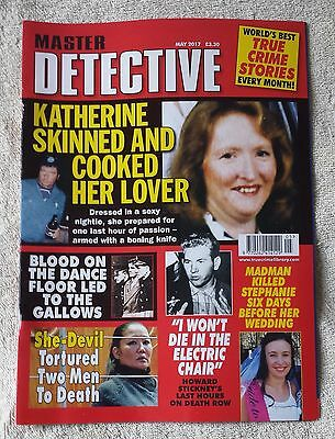 MASTER DETECTIVE MONTHLY MAGAZINE May 2017 True Crime Murder Criminal Police
