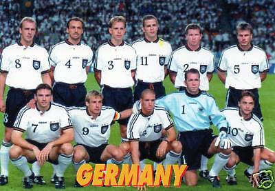 Germany Squad Team Postcard FIFA France 1998 World Cup