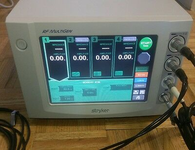 Stryker Multigen RF Lesion Pain Generator 0406-900-000 w/ Hand Control/ Cables