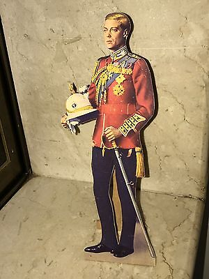 King Edward Viii Vintage Wooden Cut Out Standee Sign Litho Paper Nt Photo Statue