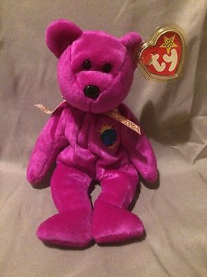 """Extremely Rare """"Millenium"""" Beanie Baby - 7 Errors - Misprint of name - NWMT"""