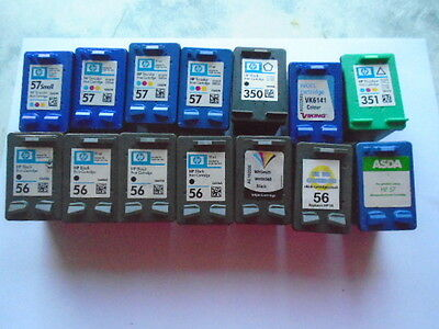 14 empty hp ink cartridges
