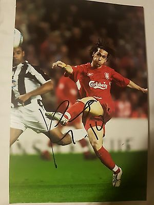 SIGNED LUIS GARCIA autograph 10x8 Liverpool football club photo WITH PROOF & COA