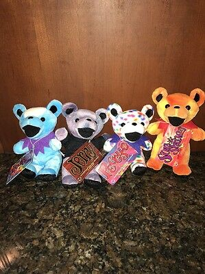 Lot Of 4 NWT Grateful Dead Bears - Daydream, Sunshine , Peggy & Jerry