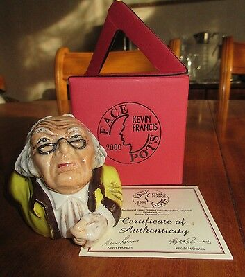 KEVIN FRANCIS 2002 FACEPOT of SCROOGE with certificate & gift box