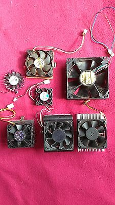 Lot de 7 ventilateurs pour PC