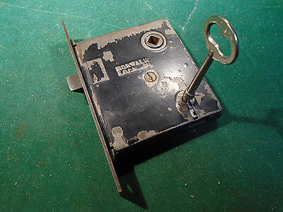 "VINTAGE NORWALK MORTISE LOCK w/ KEY - 5 3/8"" faceplate RECONDITIONED! (8226)"