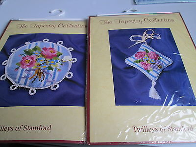 2 x The Tapestry Collection Kits - Rose Scissor Keep / Rose Pin Cushion