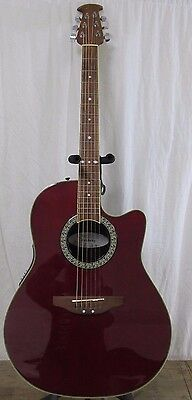 Ovation Celebrity CC057 Acoustic/Electric Guitar 6 String Right Hand Red