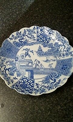 lovely blue and white chinese plate