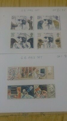 2 srts 1982 gb stamps charles darwin and 1 other